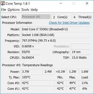 So überprüfen Sie die CPU-Temperatur Ihres Laptops in Windows 10 - 6