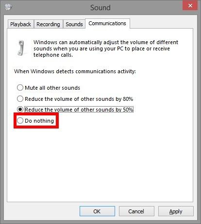So verhindern Sie, dass Skype die Lautstärke Ihres Computers verringert - 5