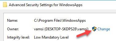 Wiederherstellen der TrustedInstaller-Eigentümerschaft für Systemdateien in Windows 10 - 4