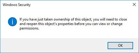 Wiederherstellen der TrustedInstaller-Eigentümerschaft für Systemdateien in Windows 10-9