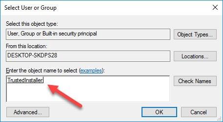 Wiederherstellen der TrustedInstaller-Eigentümerschaft für Systemdateien in Windows 10 - 6