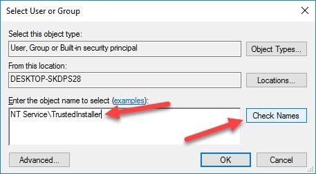 Wiederherstellen der TrustedInstaller-Eigentümerschaft für Systemdateien in Windows 10 - 5