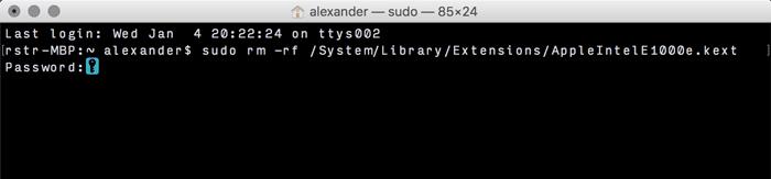 Hinzufügen und Entfernen von Kexts zu macOS - 5