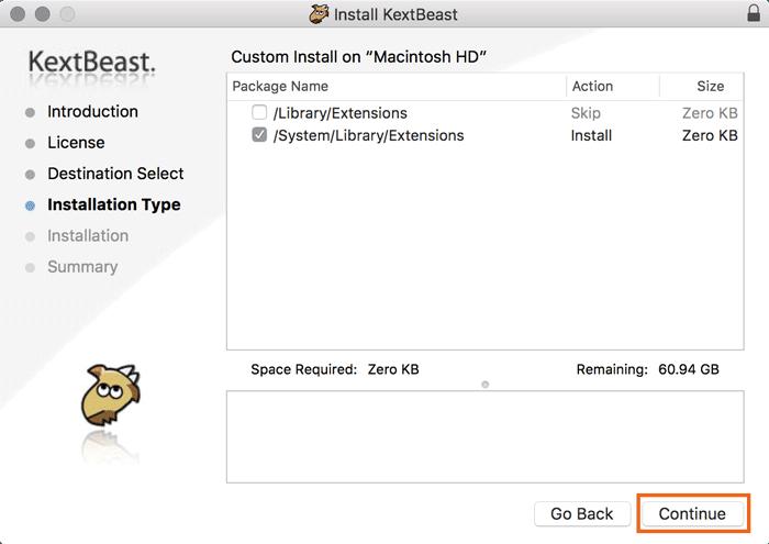 Hinzufügen und Entfernen von Kexts zu macOS - 12