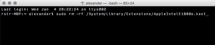 Hinzufügen und Entfernen von Kexts zu macOS - 4