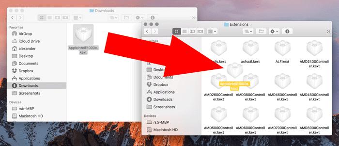 Hinzufügen und Entfernen von Kexts zu macOS - 16