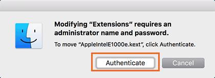 Hinzufügen und Entfernen von Kexts zu macOS - 17
