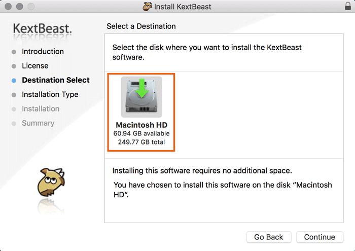Hinzufügen und Entfernen von Kexts zu macOS - 10