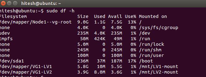 Was ist LVM und wie konfiguriert man es in Ubuntu - 9?