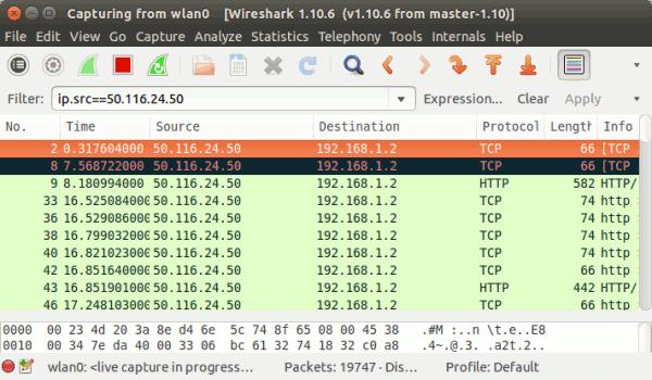 Verwendung von Bildschirmfiltern in Wireshark - 4
