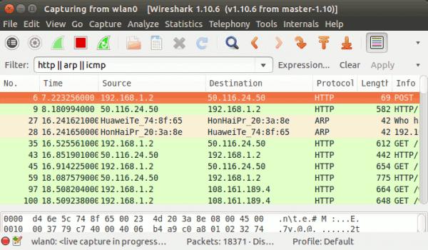 Verwendung von Bildschirmfiltern in Wireshark - 3