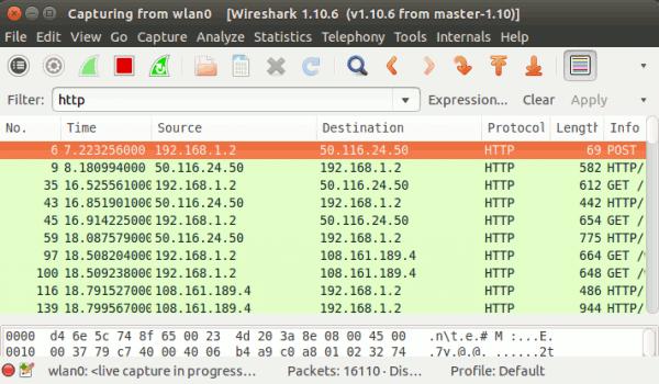Verwendung von Bildschirmfiltern in Wireshark - 2