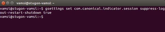 Cómo desactivar el cuadro de diálogo de bestätación de apagado en Ubuntu