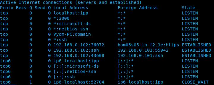Konsejos y trucos para la linea de comandos de Linux Netstat