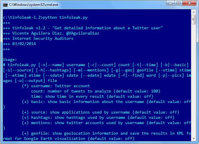 Mit Tinfoleak können Sie persönliche Daten von einem Twitter-Konto sammeln