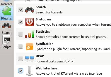 So steuern Sie KTorrent fern