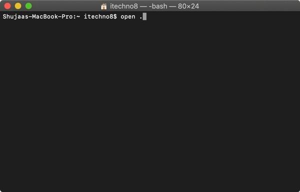 So öffnen Sie einen Ordner im Finder von einem Mac-Terminal aus