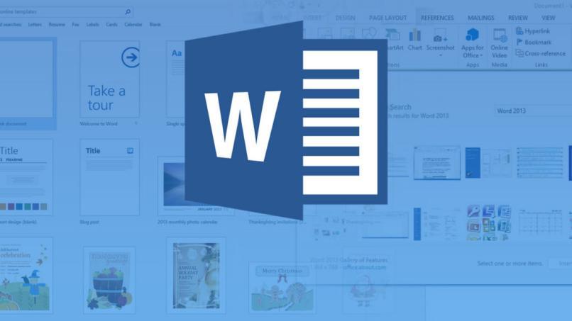 Microsoft Word-Logo blau