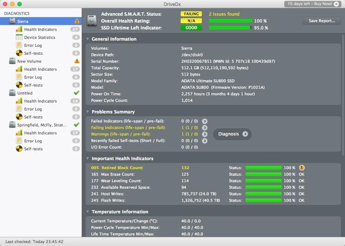 So überprüfen Sie den SSD-Status auf MacOS-Speichermedien, einschließlich SSDs, funktioniert nicht, wenn Sie es am wenigsten erwarten.  macOS bietet Tools, mit denen Sie den Festplattenstatus Ihrer SSDs und anderer angeschlossener Laufwerke überprüfen können.