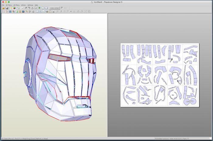 Führen Sie Pepakura Designer auf einem Mac aus, um Briefpapier zu erstellen