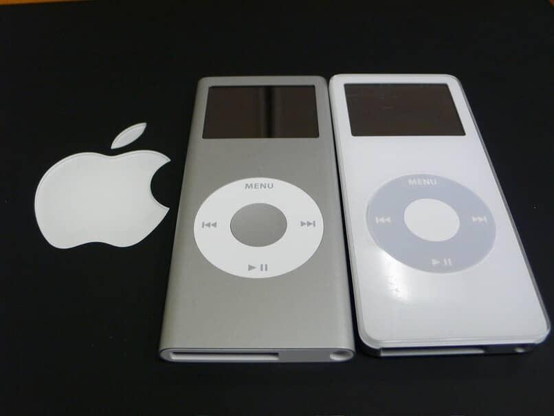 matt grau und weiß ipods nano