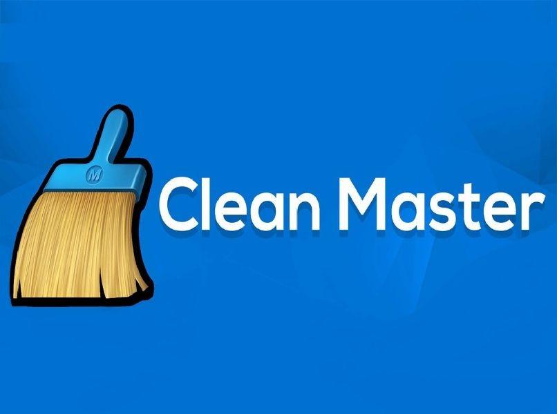 weiße Buchstaben des blauen Hintergrunds des sauberen Hauptbuntlogos
