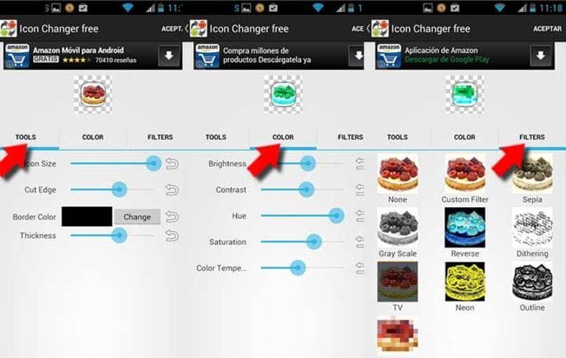 Ändern Sie das Symbol und den Namen der Anwendung in Android