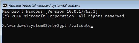 Konvertieren des Legacy-BIOS in UEFI in Windows 10