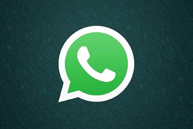 WhatsApp App Symbol dunklen Hintergrund