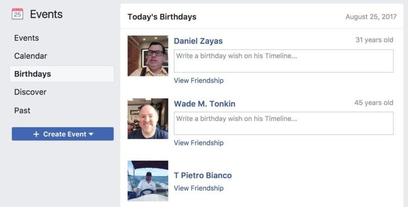 verstecktes Datum Geburtstag Facebook