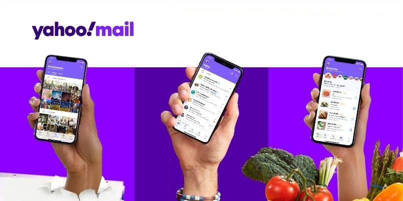 Handy Gemüse Hände Mail Yahoo