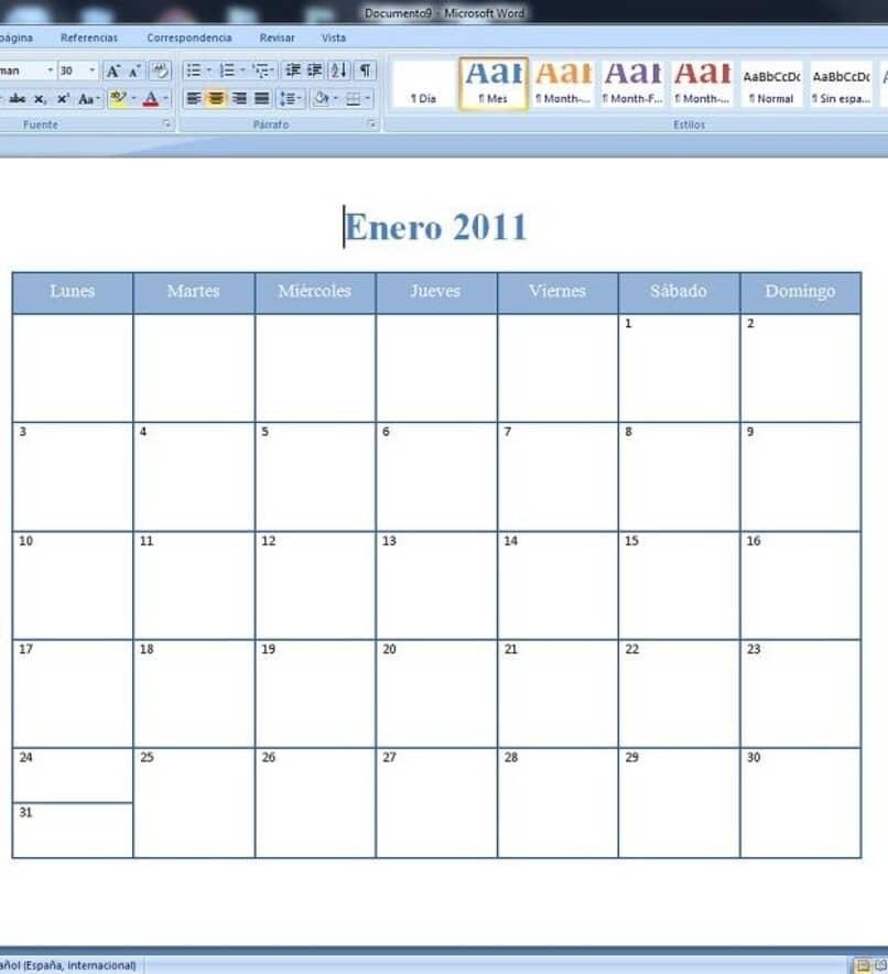 Vorlagen zum Erstellen von Kalendern in Word