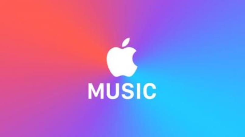 buntes Apfelmusikhintergrundbild