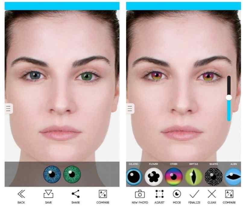 Augenfarbe Studiotest