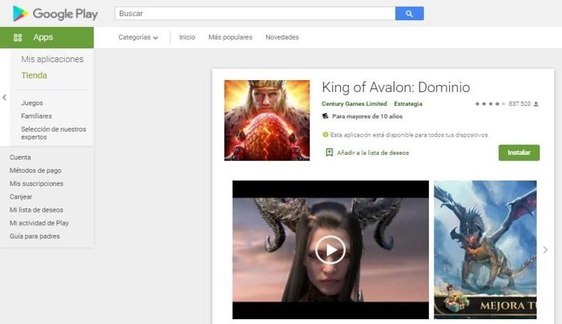 König Avalion ähnliches Spielimperium