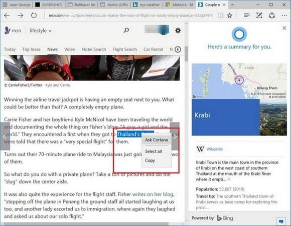 So richten Sie Cortana im Microsoft Edge-Browser ein und verwenden es