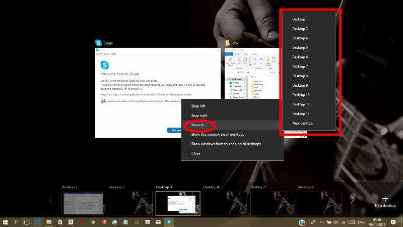 Verwendung von Virtual Desktop in Windows 10