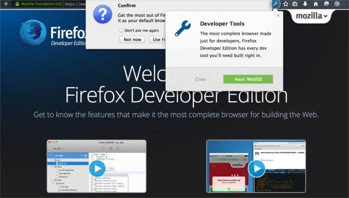 So installieren Sie Firefox Developer Edition unter Linux