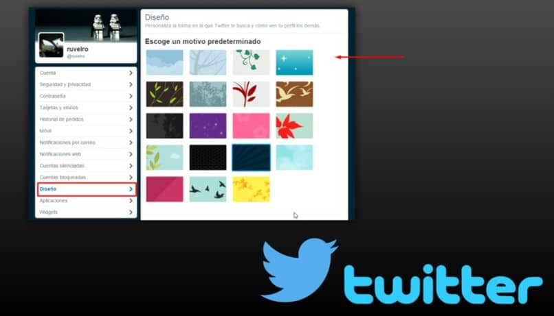 verschiedene Twitter-Layouts zum Anpassen