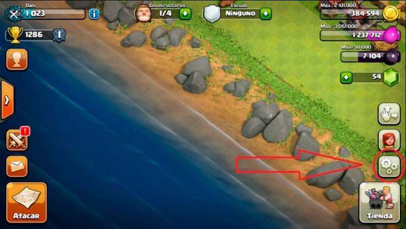 lade das Dorf in Clan-Zusammenstöße