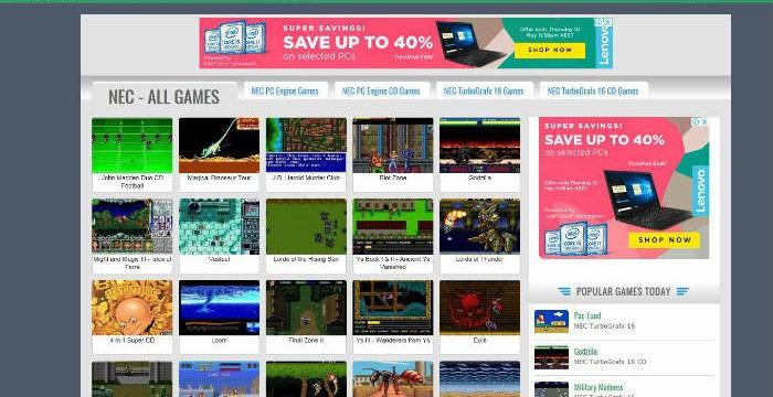 4 klassische Retro-Gaming-Websites
