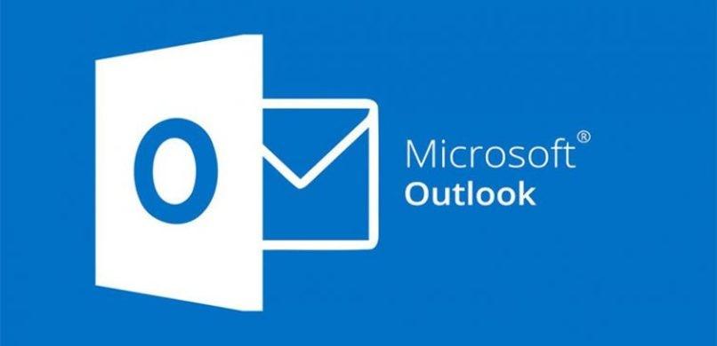 Microsoft Outlook-Logo mit blauem Hintergrund