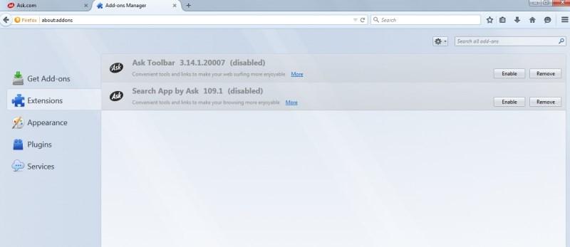 So entfernen Sie die Ask-Leiste und die Ask.com-Suche aus Ihrem Browser