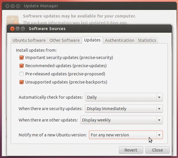 So aktualisieren Sie von Ubuntu 12.04 LTS auf Ubuntu 13.04
