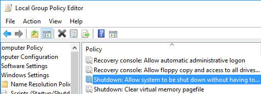 So entfernen Sie die Schaltfläche zum Herunterfahren aus dem Windows 10-Anmeldebildschirm