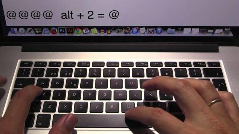 weiß, wie man auf Mac schreibt