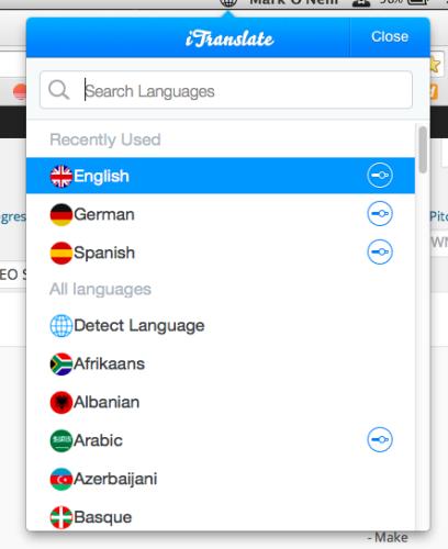 Holen Sie sich mit iTranslate Ihre fremdsprachigen Übersetzungen auf Ihren Mac-Desktop
