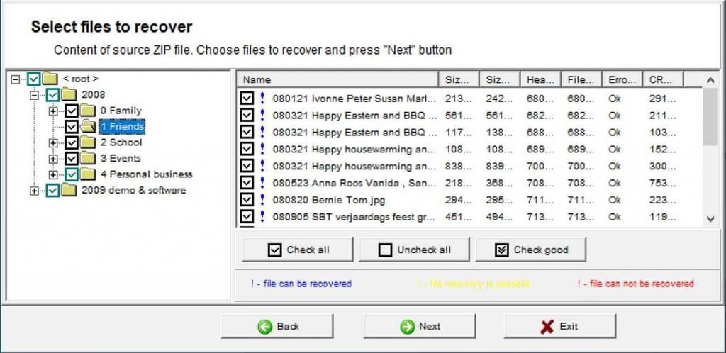 Beschädigte ZIP-Dateien?  Mit Recovery Toolbox for ZIP ist dies kein Problem.  Haben Sie eine beschädigte ZIP-Datei?  Glücklicherweise bedeutet eine beschädigte ZIP-Datei dank Recovery Toolbox for ZIP nicht, dass Ihre Dateien für immer verloren sind.