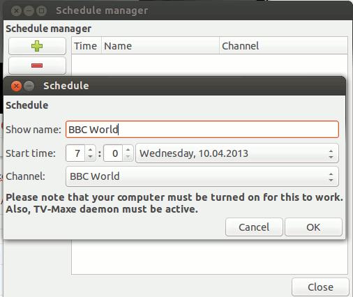 Verwenden Sie TV-maxe als Alternative zu Sopcast unter Linux