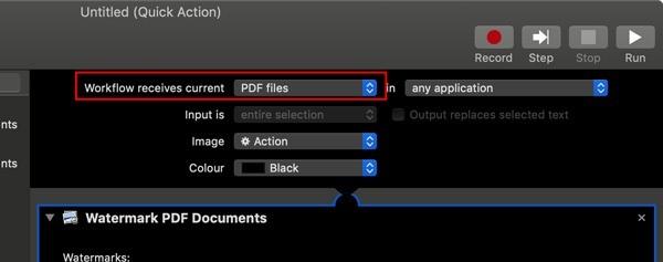 So markieren Sie PDF-Seiten mit Wasserzeichen mithilfe von Schnellaktionen unter macOS.  Die Option, PDF-Dateien mit Wasserzeichen zu versehen, ist in Schnellaktionen standardmäßig nicht vorhanden.  Erfahren Sie, wie Sie Ihre eigenen Schnellaktionen erstellen, um einer PDF-Datei ein Wasserzeichen hinzuzufügen.